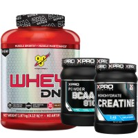 Стак 02 - BSN WHEY DNA - 1.87 kg (4.12 lb) + Xpro BCAA 8100 - 429 g + Xpro CREATINE Monohydrate - 500 g