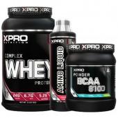 Стак 08 - Xpro WHEY Complex Protein - 1kg + Xpro BCAA 8100 - 429 g + Xpro AMINO LIQUID - 500 ml