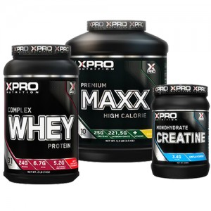Стак 05 - Xpro WHEY Complex Protein - 1kg + Xpro Premium MAXX – 2,5 kg + Xpro CREATINE Monohydrate - 500 g
