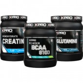 Стак 01 - Xpro BCAA 8100 - 429 g + Xpro GLUTAMINE – 300 g + Xpro CREATINE Monohydrate - 500 g