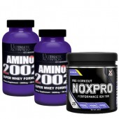 Стак 03 – 2 x Ultimate AMINO 2002 + Xpro NOXPRO PRE-WORKOUT - 300 g / 25 дози