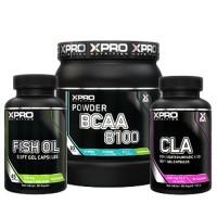 Стак 07 - Xpro BCAA 8100 - 429 g + Xpro FISH OIL - 90 капсули + Xpro CLA - 90 капсули