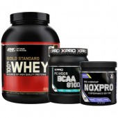 Стак 11 - ON 100% WHEY Gold Standard - 2,27 kg (5 LB) + Xpro BCAA 8100 - 429 g + Xpro NOXPRO PRE-WORKOUT - 300 g