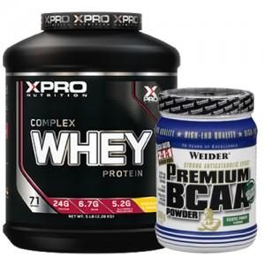 Стак 08 - Xpro WHEY Complex Protein - 2.28 kg + Weider Premium BCAA - 500 g