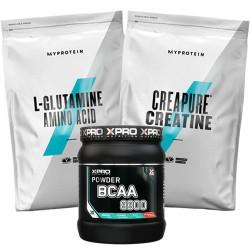 Stack – Xpro BCAA 8800 - 429 g + MYPROTEIN - L-GLUTAMINE - 500 g + MYPROTEIN - CREAPURE® Creatine - 500 g