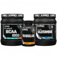 Stack – Xpro BCAA 8800 – 429 g + Xpro - GLUTAMINE – 300 g + Xpro TRIBULUS – 90 caps