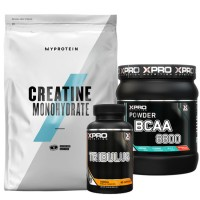 Stack – Xpro BCAA 8800 – 429 g + Xpro TRIBULUS – 90 caps + MYPROTEIN – CREATINE Monohydrate – 250 g