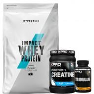 Stack – MYPROTEIN - Impact Whey Protein - 2.5 kg + Xpro - CREATINE Monohydrate - 500 g + Xpro - TRIBULUS - 90 caps