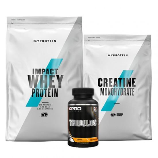 Stack – MYPROTEIN – Impact Whey Protein – 1 kg + MYPROTEIN – CREATINE Monohydrate – 250 g + Xpro TRIBULUS – 90 caps