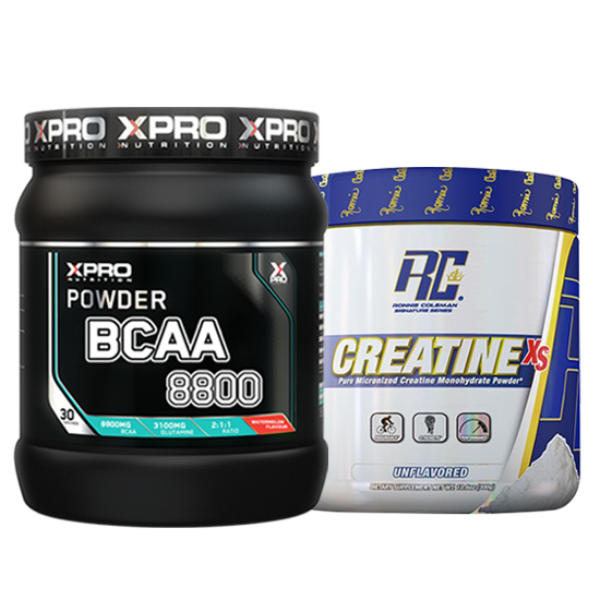 Stack – Xpro BCAA 8800 - 429 g + RCSS - CREATINE XS - 300 g