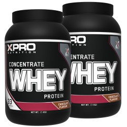 Xpro - WHEY Protein Concentrate - 2 kg (2x1 kg) / 66 servings