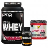 Лимитиран стак – Xpro WHEY Complex Protein – 1 kg + BSN CREATINE – 216 g + Xpro TRIBULUS – 90 капсули