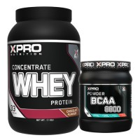 Стак 01 – Xpro WHEY Protein Concentrate - 1 kg + Xpro BCAA 8800 - 429 g