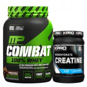 Стак 03 – MusclePharm® – Combat 100% WHEY™ – 907 g + Xpro CREATINE Monohydrate – 500 g