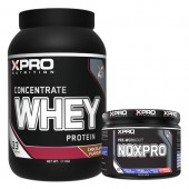 Стак 03 – Xpro WHEY Protein Concentrate – 1 kg + Xpro NOXPRO PRE-WORKOUT – 300 g