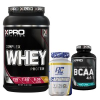 Стак 04 – Xpro WHEY Complex Protein – 1 kg + RCSS – L-ARGININE XS – 100 капсули + Xpro BCAA 4:1:1 – 100 таблетки