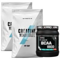 Стак 05 – MYPROTEIN – CREATINE Monohydrate – 2 x 250 g (500 g) + Xpro BCAA 8800 - 429 g