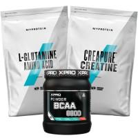 Стак 05 – Xpro BCAA 8800 - 429 g + MYPROTEIN - L-GLUTAMINE - 500 g + MYPROTEIN - CREAPURE® Creatine - 500 g