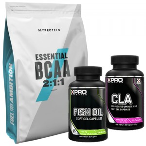 Стак 05 – MYPROTEIN – Essential BCAA 2:1:1 – 250 g + Xpro FISH OIL – 90 капсули + Xpro CLA – 90 капсули