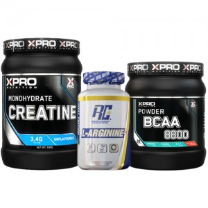 Стак 06 – Xpro BCAA 8800 - 429 g + RCSS - L-ARGININE XS - 100 капсули + Xpro CREATINE Monohydrate - 500 g