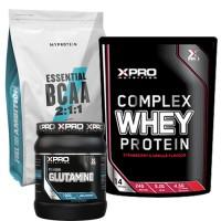 Стак 06 – MYPROTEIN – Essential BCAA 2:1:1 – 250 g + Xpro WHEY Protein – 454 g + Xpro GLUTAMINE – 300 g