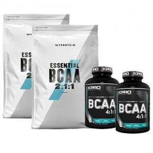 Стак 08 – MYPROTEIN – Essential BCAA 2:1:1 – 2 x 250 g (500 g) + Xpro BCAA 4:1:1 – 2 x 100 таблетки (200 таблетки)