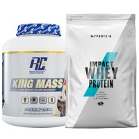 Стак 10 – RCSS – KING MASS XL – 2.75 kg (6 lb) + MYPROTEIN – Impact Whey Protein – 1 kg