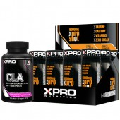 Стак – Xpro CLA – 90 капсули + Xpro L-Carnitine Shot 6000 mg – 12 бр.