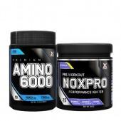 Лимитиран стак - Xpro Premium AMINO 6000 - 200 таблетки + Xpro NOXPRO PRE-WORKOUT - 300 g