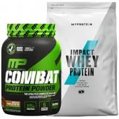 Стак 03 – MusclePharm® – Combat PROTEIN POWDER® – 907 g + MYPROTEIN – Impact Whey Protein – 1 kg