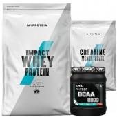 Стак 04 – MYPROTEIN – Impact Whey Protein – 2.5 kg + MYPROTEIN – CREATINE Monohydrate – 250 g + Xpro BCAA 8800 – 429 g