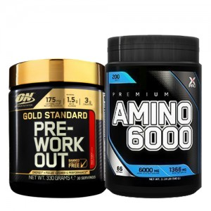 Стак 05 - ON Gold Standard PRE-WORKOUT - 330 g + Xpro Premium AMINO 6000 - 200 таблетки
