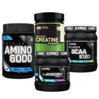 Стак 03 - Xpro Premium AMINO 6000 - 200 таблетки + ON CREATINE - 317 g + Xpro BCAA 8100 - 429 g + Xpro L-ARGININE 300 g