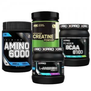Стак 03 - Xpro Premium AMINO 6000 - 200 таблетки + ON CREATINE - 317 g + Xpro BCAA 8100 - 429 g + Xpro L-ARGININE 300 g