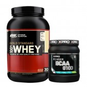 Стак 04 - ON 100% WHEY Gold Standard - 908 g (2 LB) + Xpro BCAA 8100 - 429 g