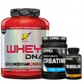 Стак 06 - BSN WHEY DNA - 1.87 kg (4.12 lb) + Xpro CREATINE Monohydrate - 500 g + Xpro TRIBULUS - 90 капсули