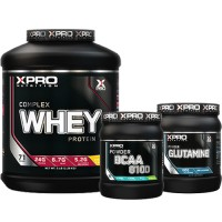 Стак 08 – Xpro WHEY Complex Protein – 2.28 kg + Xpro BCAA 8100 – 429 g + Xpro GLUTAMINE – 300 g