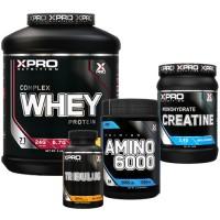 Стак 08 – Xpro WHEY Complex Protein – 2.28 kg + Xpro Premium AMINO 6000 – 200 tabs + Xpro CREATINE Monohydrate – 500 g + Xpro TRIBULUS – 90 caps