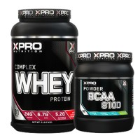 Стак 10 - Xpro WHEY Complex Protein - 1 kg + Xpro BCAA 8100 - 429 g