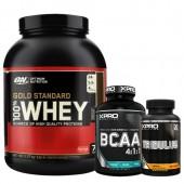 Стак 12 - ON 100% WHEY Gold Standard - 2,27 kg + Xpro BCAA 4:1:1 - 100 таблетки + Xpro TRIBULUS – 90 капсули