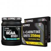 Стак 01 – Xpro BCAA 8100 – 429 g + Xpro L-Carnitine Shots 3750 mg / 14 бр. x 25 ml