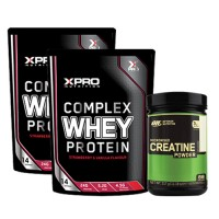 Стак 01 – Xpro WHEY Protein – 2 x 454 g (908 g) + ON CREATINE – 317 g
