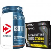 Стак 02 – Dymatize ISO 100 – 900 g + Xpro L-Carnitine Shots 3750 mg / 14 бр. x 25 ml