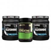 Стак 02 – ON CREATINE – 317 g + Xpro GLUTAMINE – 2 x 300 g (600 g)