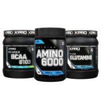 Стак 04 – Xpro Premium AMINO 6000 – 200 таблетки + Xpro BCAA 8100 – 429 g + Xpro GLUTAMINE – 300 g