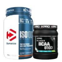 Стак 05 – Dymatize ISO 100 – 900 g + Xpro BCAA 8100 – 429 g