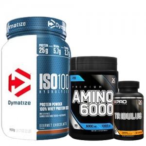 Стак 05 – Dymatize ISO 100 – 900 g + Xpro Premium AMINO 6000 – 200 таблетки + Xpro TRIBULUS – 90 капсули