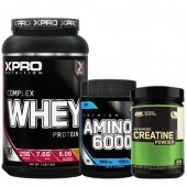 Стак 07 – Xpro WHEY Complex Protein – 1 kg + Xpro Premium AMINO 6000 – 200 таблетки + ON CREATINE - 317 g