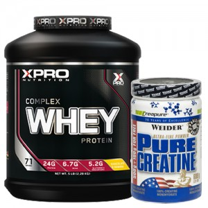 Стак 08 – Xpro WHEY Complex Protein – 2.28 kg + Weider PURE CREATINE – 600 g
