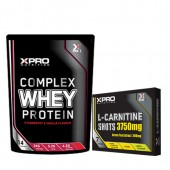 Стак 11 – Xpro WHEY Protein – 454 g + Xpro L-Carnitine Shots 3750 mg / 7 бр. x 25 ml